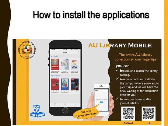 How to set up AU Library Mobile